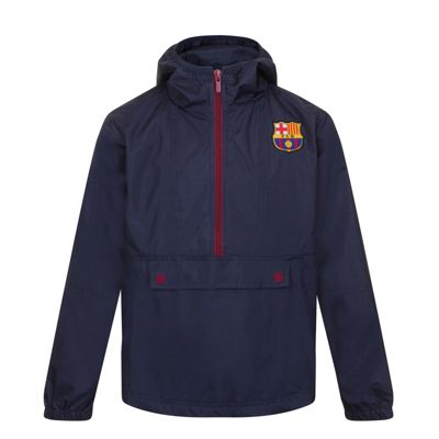 FC Barcelona Boys Half Zip Shower Jacket 6-7 Years