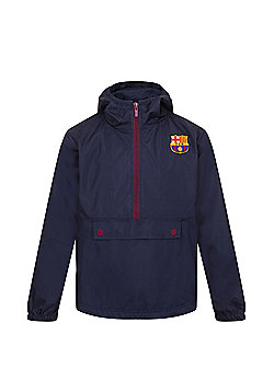 FC Barcelona Boys Shower Jacket - Navy & Multi