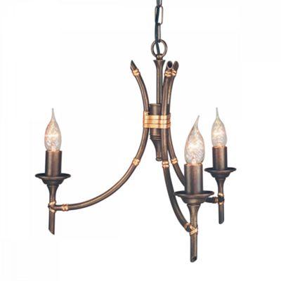 Bronze Patina 3lt Chandelier - 3 x 60W E14