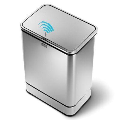 simplehuman 40 Litres Rectangular Sensor Rubbish bin in Brushed Stainless Steel
