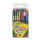 Mini Twistables Crayons 24/Pkg-8 Bright, 8 Neon, 8 Rainbow Colors