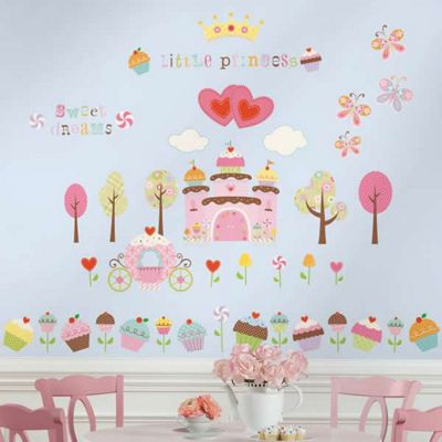Kids Wall Stickers - Cupcake Castle