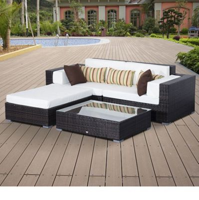 Outsunny Garden Rattan Home Furniture 2 Seater Brown