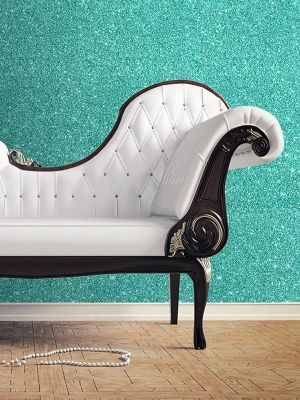 Textured Sparkle Wallpaper - Teal - 701355