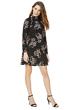 AX Paris Floral High Neck Swing Dress - Multi