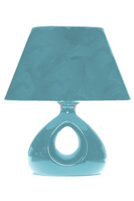 Lighting In:Style Chelsea Triangle Table Lamp in Teal