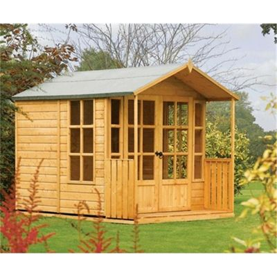 Arley 8 x 7 Summerhouse Wooden Summerhouse (8ft x 7ft)