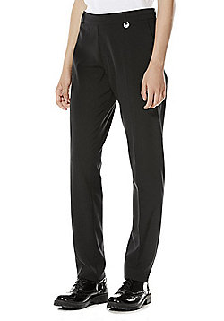 F&F School Girls Slim Leg Trousers - Black