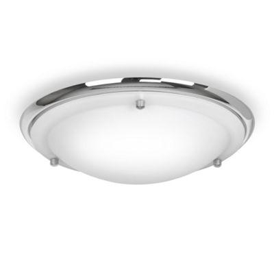 Ip44 flush bathroom ceiling light chrome