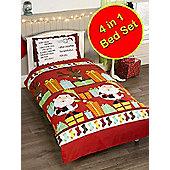 Santa's List 4 in 1 Junior Bedding Bundle