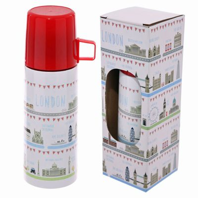 Puckator 350ml Flask, London Icons