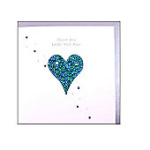 Glittering Heart Best Man Wedding Card