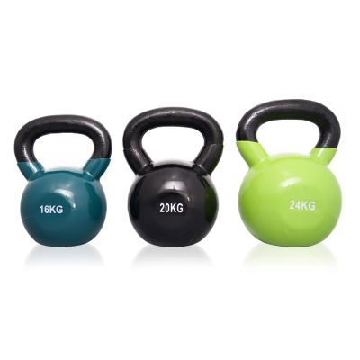 Body Power Endurance Vinyl Coated Kettle Bell Weight Set