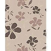 Superfresco Easy Rapture Floral Light Brown Wallpaper