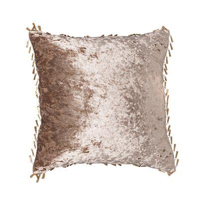Truffle Crushed Velvet Cushion 18