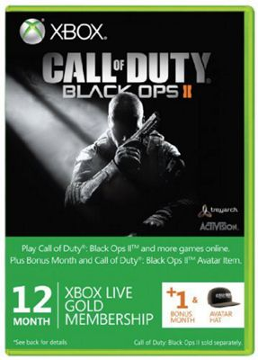 Xbox Live - Call Of Duty - Black Ops branded 12 Month Gold Card