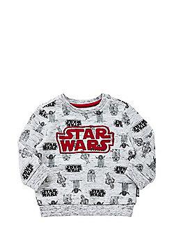 Star Wars Embroidered Slogan Sweatshirt - Grey
