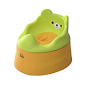 Homcom Baby Toilet Seat Toddler Potty Training Seat Trainer Chair with Removable Potty Lid (Green and Yellow)