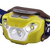 Fenix HL26R LED Head Torch USB Rechargeable 450 Lumens Yellow
