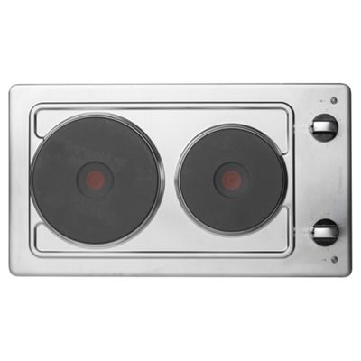 Hotpoint E320SKIX First Edition Electric Hob - Silver Stainless Steel