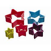 Kitchen Craft Colour Works Plastic Cutter Set Star