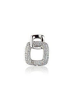 Jewelco London 18ct White Gold - Diamond Pave-set - Pendant - Ladies