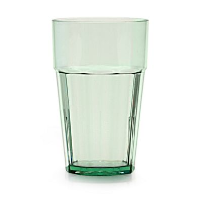 Clarity 16 oz Diamond Tumbler - Green (12 Pack)