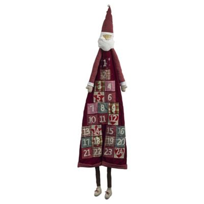 Large 1.8m Plush Fabric Father Christmas Advent Calendar