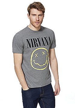 Nirvana European Tour 1994 T-Shirt - Grey Marl