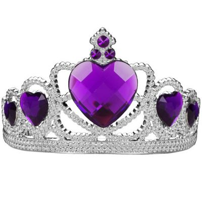 Bristol Novelty - Silver Tiara with Purple Gems