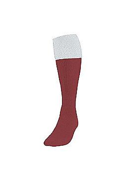 Precision Training Turnover Football Socks - Maroon & White