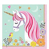 Magical Unicorn Paper Luncheon Napkins - 33cm
