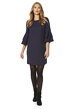 Vero Moda Double Bell Sleeve Shift Dress - Navy