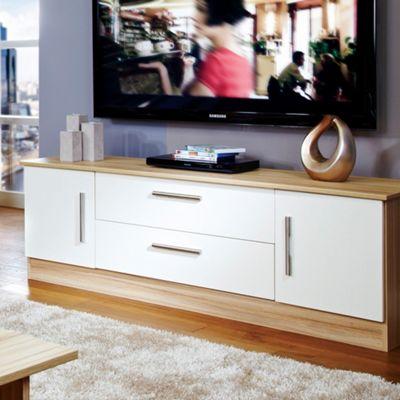 Welcome Furniture Living Room Wide 2 Door / 2 Drawer TV Unit - Vanilla/Cocobola