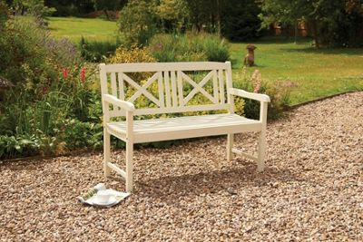 Saigon Hardwood Bench with White Oil finish