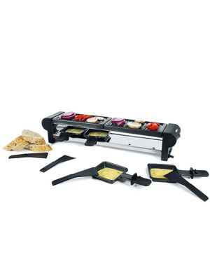 Boska Holland Pro Collection Maxi Raclette with Spatulas and Enamels Pans