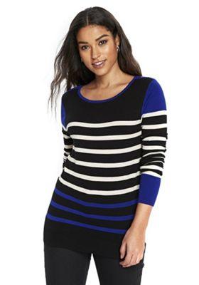 Wallis Flash Stripe Jumper 18 Blue