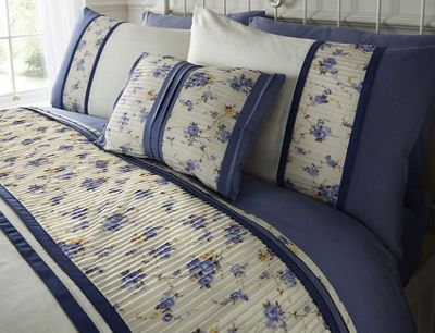 Nikita, Blue Floral King Size Bedding