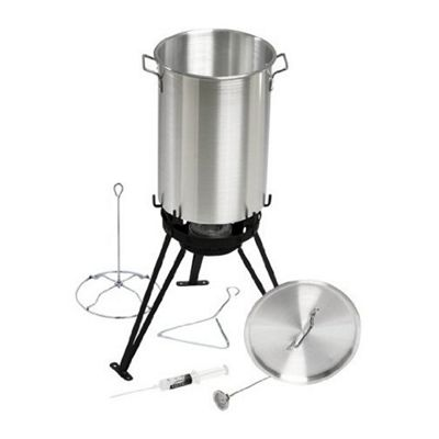 Large Turkey Fryer Stock Pot and Burner for the Garden