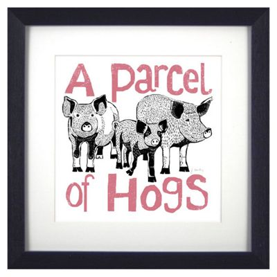 Animal Friends Framed Print - Hogs