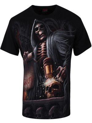 Spiral Judge Reaper Men's T-shirt, Black.