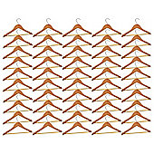 Harbour Housewares Pack of 50 Natural Childrens Wooden Clothes / Coat Hangers