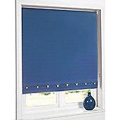 Hamilton Mcbride Aurora Square Eyelet Blue Blind - 60x165cm