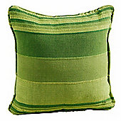 Homescapes Cotton Striped Green Cushion Cover Morocco, 60 x 60 cm