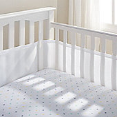 Breathable Baby Airflow 4-Sided Mesh Cot Liner - White - White