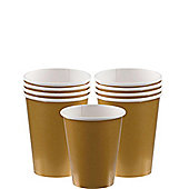 Gold Paper Cups 266ml, Pack of 20