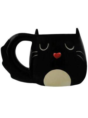 Black Cat Shaped Mug 10oz