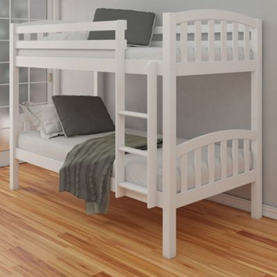 Buy Happy Beds American Wood Kids Bunk Bed White 3ft Single From