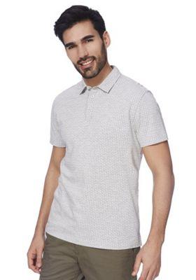 F&F Geometric Print Polo Shirt Grey S