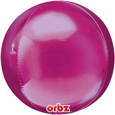 Bright Pink Birthday Orbz Balloon - 25 inch Long Lasting